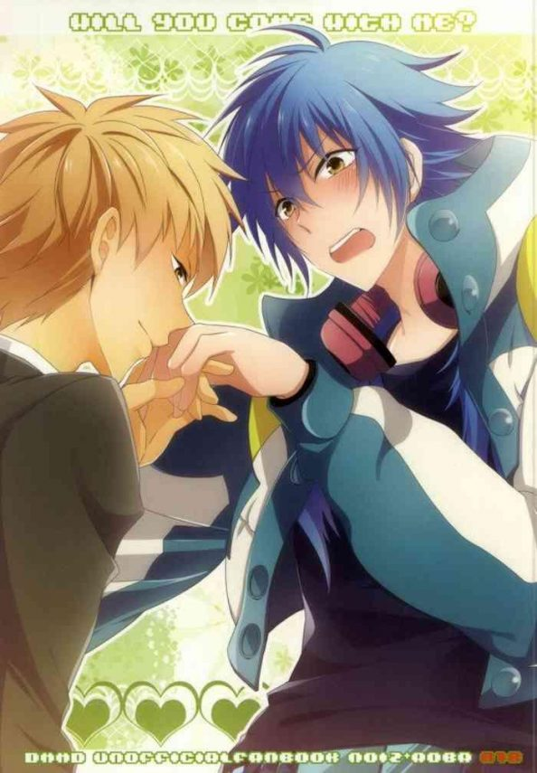 Full Color will you come with me?- Dramatical murder hentai Slender
